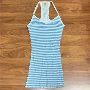 Ruehl No. 925 Blue and White Striped Tank Top